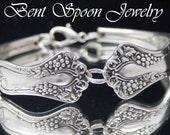 Silver Spoon Bracelet, Spoon Jewelry, Silverware Bracelet, Silverware Jewelry - 1904 VINTAGE GRAPES