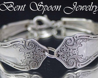 Spoon Bracelet ALHAMBRA 1907 Antique Vintage  Ornate Spoon Bracelet..Silverware Jewelry