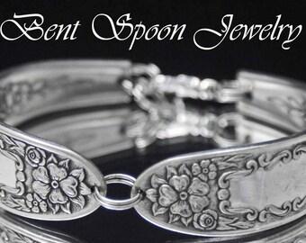 Spoon Bracelet, Spoon Jewelry, Silverware Jewelry, Silverware Bracelet, Bridesmaids, Something Old - MILDRED 1936