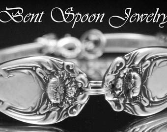 Spoon Bracelet, Spoon Jewelry, Silverware Jewelry, Silverware Bracelet, Vintage Wedding, Antique Bracelet, 1901 HANOVER