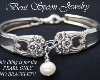 Silverware Jewelry Bracelet add a Pearl Embellishment