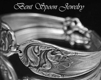Spoon Bracelet, Antique Silverware Jewelry -  Spoon Jewelry - FLEUR de LUCE -1904
