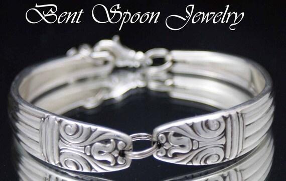 Spoon Bracelet, Silverware Jewelry, Spoon Jewelry, Wedding Bracelet, Bridal Bracelet, Bridesmaids Bracelet - 1935 Lady Esther