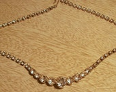 Vintage 1980 vintage rhinestone necklace excellent condition FREE SHIPPING