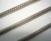 Rhodium plated mesh chain 20M reserved for Corinne