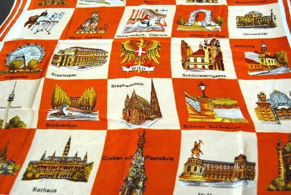 Vintage Souvenir Vienna Scarf