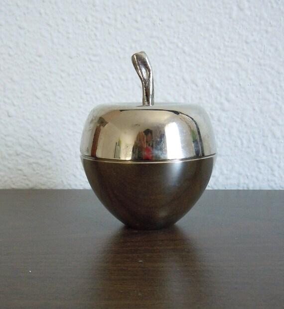 Vintage Metal Apple Keepsake Box