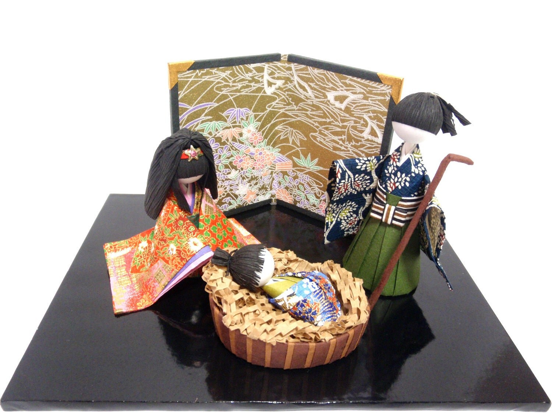 nativity set small set made in japan handmade japanese. Black Bedroom Furniture Sets. Home Design Ideas