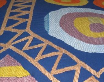 Beautiful  handmade traditional circle geometrical pattern Suzani Pillow Cover cushion  original silk embroidery 20.5 x 19.5 inch