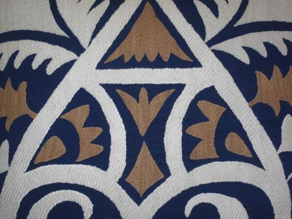"""Beautiful handmade flowers Samarkand pattern Suzani Pillow Cover   original  silk 19.5"""" x 19.5"""" inch"""