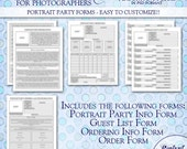 Portrait Party Photography Business Forms
