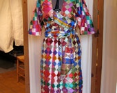CUSTOM Dress with easy to open sashes that cross at bust