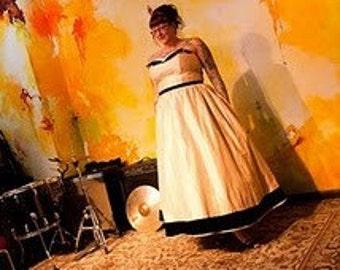 Custom Wedding Gown, Strapless
