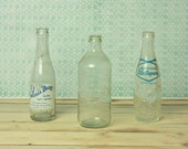 RESERVED instant collection of vintage soda bottles