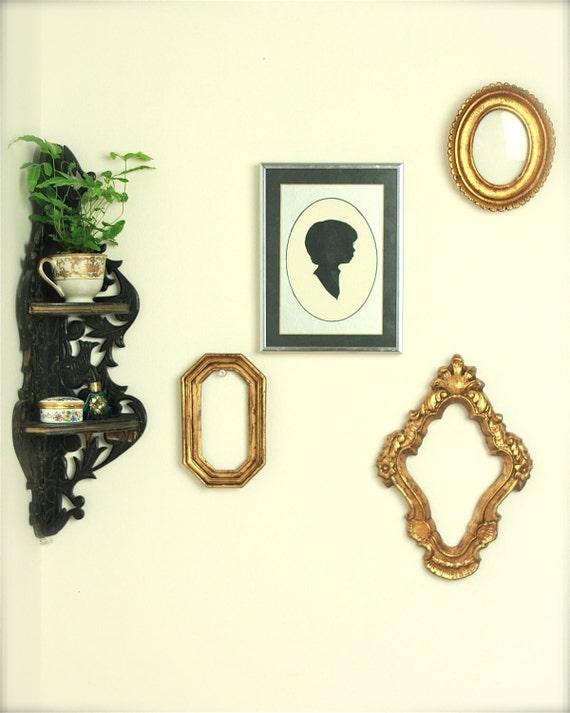 antique Victorian corner wall shelf