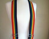 ON SALE Mens Rainbow Suspenders- Vintage Rooster Products