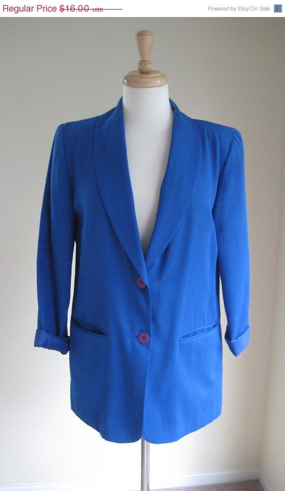 sale Royal Blue Boyfriend Blazer