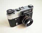 Vintage 35mm film camera Russian Working Fed 5B
