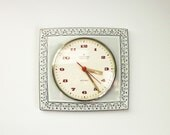 TEMP RESERVED FOR Ca - Kitchen Wall Clock Ceramic Blue and White Pastel Color Working