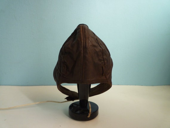 Vintage Leather Aviator Hat Brown By Eurovintage On Etsy