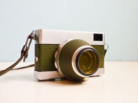 Vintage Rare 35mm film camera green Werra