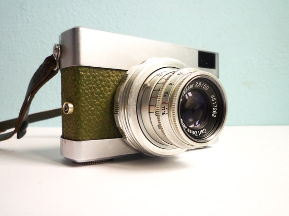 Vintage 35mm Film Camera Green Rare Werra
