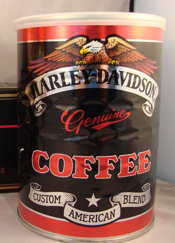 Harley Davidson Collectible Coffee Can Unopened Great Graphics