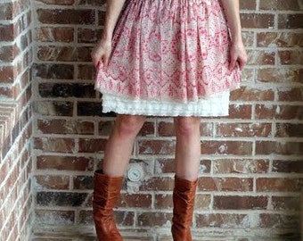 SALE Dress Extender Slip Tiered Ruffle Available in cream, black, fuschia, bright pink, white, navy, brown, and turquoise.