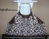 Baby Nursing Cover Up Reversible Brown And White Sophisticated and Elegant