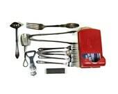 Match holder and vintage kitchen accessories