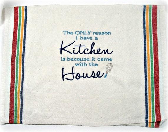 Tea towel, flour sack style