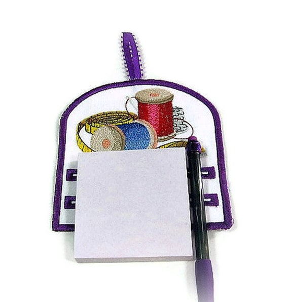 Magnetic notepad holder