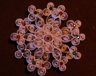 Quilled Double Snowflake