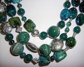 Take Me to Aruba. 63 inches of spectacular Aruba blue-green semi precious stones. Free Shipping.