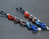 Fanfare Bobby Pin,s Seed Bead, Wire Wrapped, Hair Accessory, Fashion, LoveandCherish