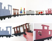 Large interactive train - magnetic wall art - customizable colours and size