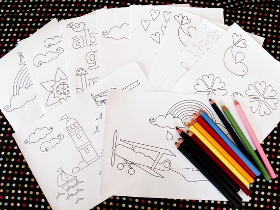 complete set of 26 printable colouring pages, print your own colouring book - downloadable PDFs