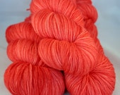 Wool Sock Yarn - Superwash Merino Fingering - Red Yarn - Semi Solid