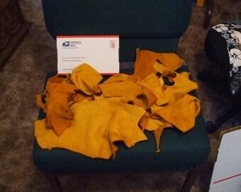 1 lb. Sample Box DEER LEATHER Scraps