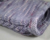 ON SALE - Cabled Lilac Pink Wool Shorties, 0-3 Months