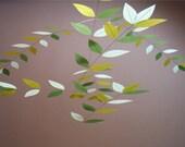 "Silk Leaf Mobile (""Pale Horizon"" Color Combo)"