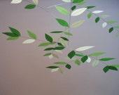 "Silk Leaf Mobile (""Juniper Dream"" Color Combo)"