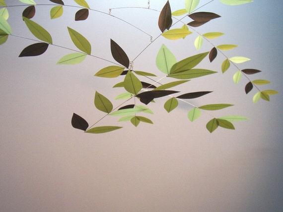 Original Leaf Mobile Moon Lily Mobiles Kinetic Aerial Sculpture