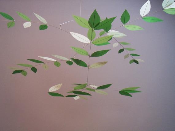 Modern Mobile Leaf Design Juniper Dream Green Art Mobile