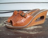 Peek A Boo Woven Leather Platform Shoes