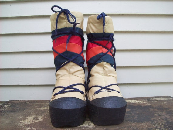 Old School Rainbow Moon Boots