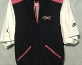 rare vintage nike air jordan flight shirt vest combo. size medium
