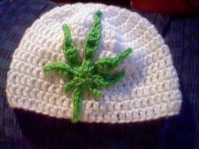Crochet Marijuana Pot Leaf Pattern