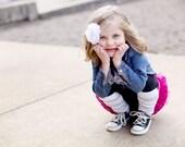 Gray and White Stripe Baby/Toddler/Kid Leggings - Leg Warmer - Long Sleeve - Fall Winter - Back to School - Halloween Costume