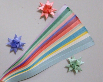 Pearlescent Mix (17 colors) for making Moravian German Froebel Stars - various sizes (100 strips per pack)